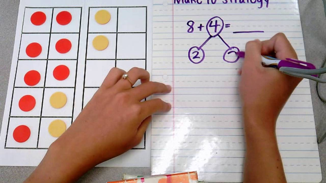 medium resolution of Make 10 Strategy for Addition - YouTube