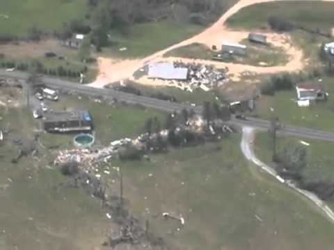 Aieral View of Dekalb & Jackson County Alabama Storm Damage