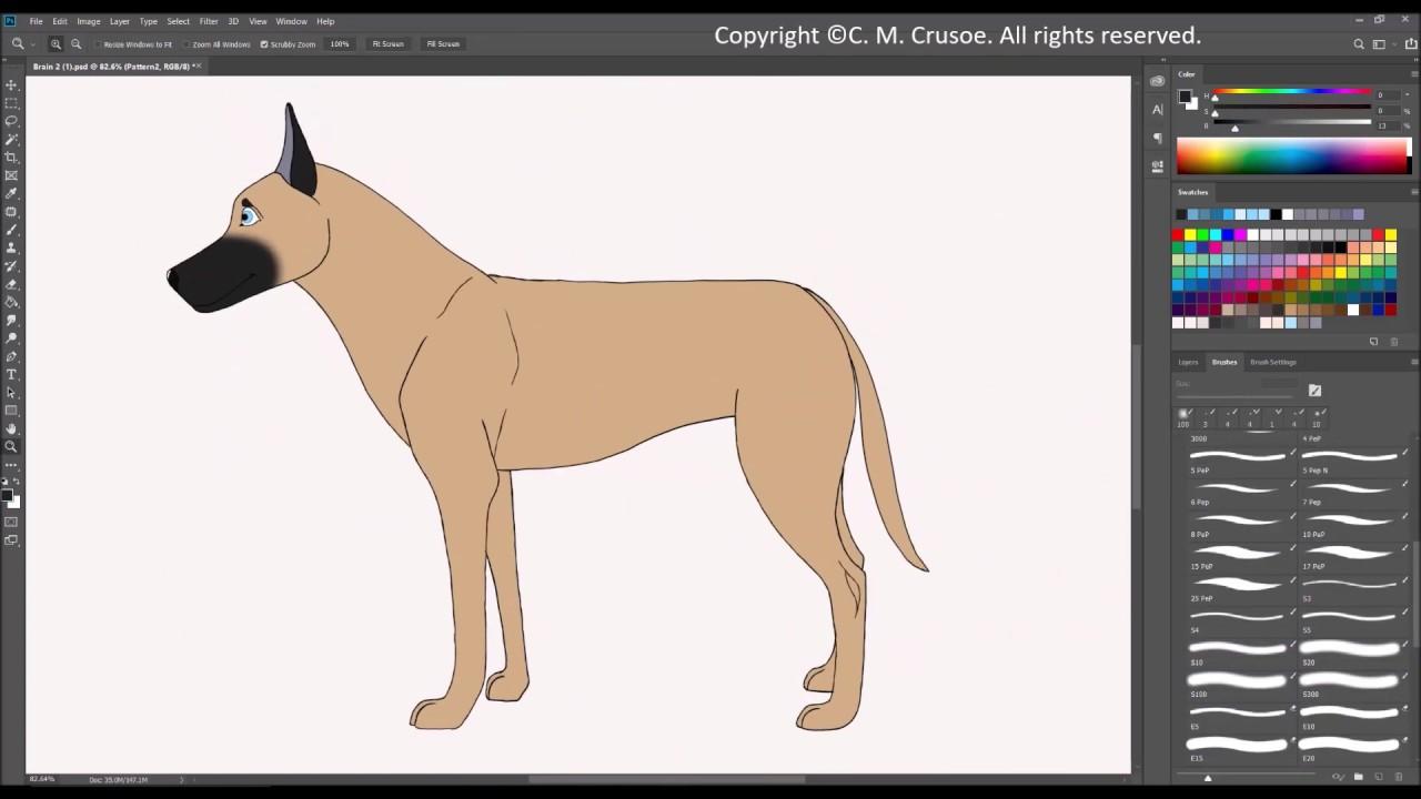 Belgian Malinois Speed Draw/Paint - YouTube
