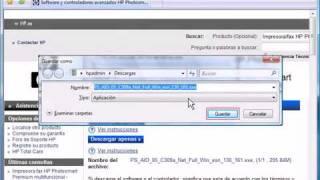 Instalar controlador de impresora HP con todas las funciones en Windows Vista USB