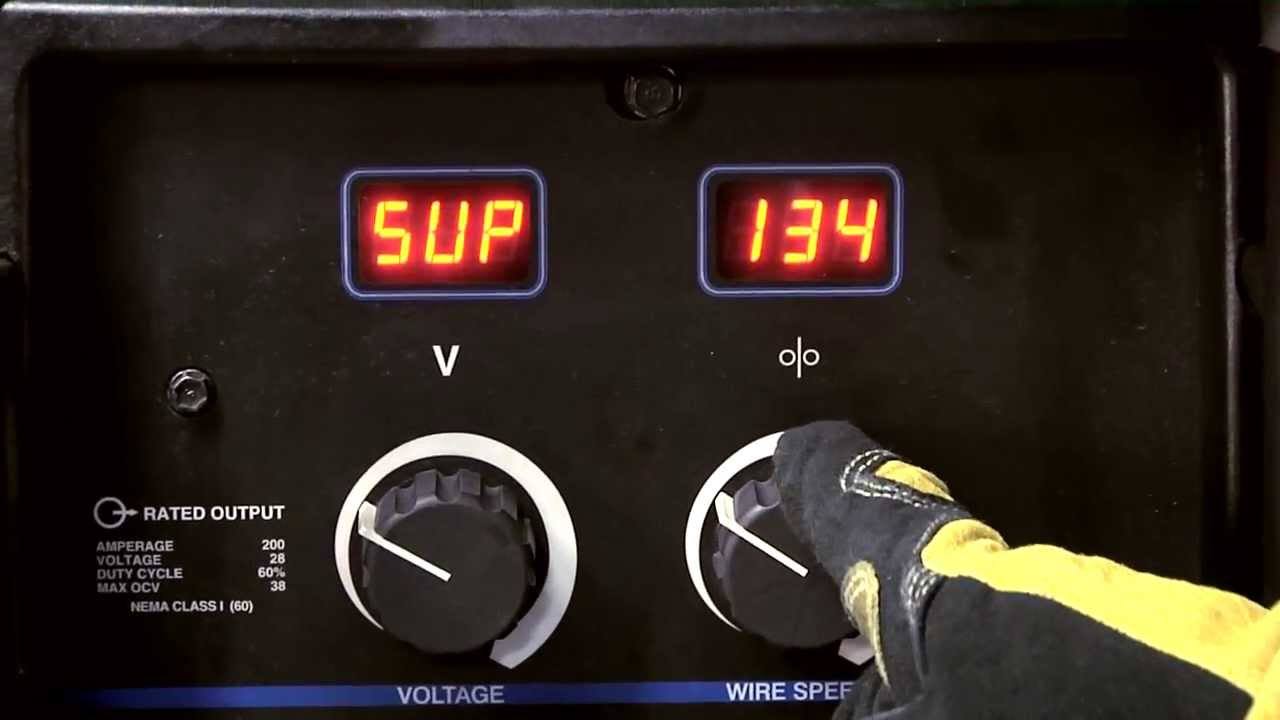 Millermatic 252 Mig Welder Sup Adjust Youtube