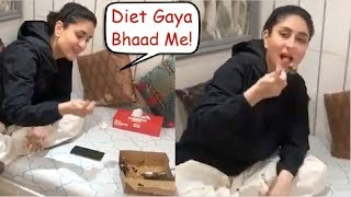 HUNGRY Kareena Kapoor Gets Happy Eating A Full Chocolate Cake - FUNNY VIDEO