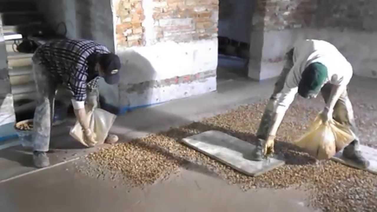 La semina del terrazzo alla veneziana - YouTube
