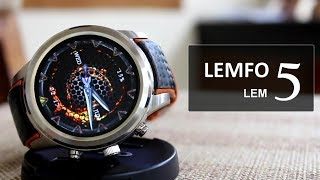 LEMFO LEM 5 Review, Special Discount Coupon, Waterproof Smartwatch, Battery test !