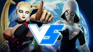 Street Fighter 5 – Arlequina vs Spider Gwen (Marvel vs DC)!! Gameplay (PC Mods)