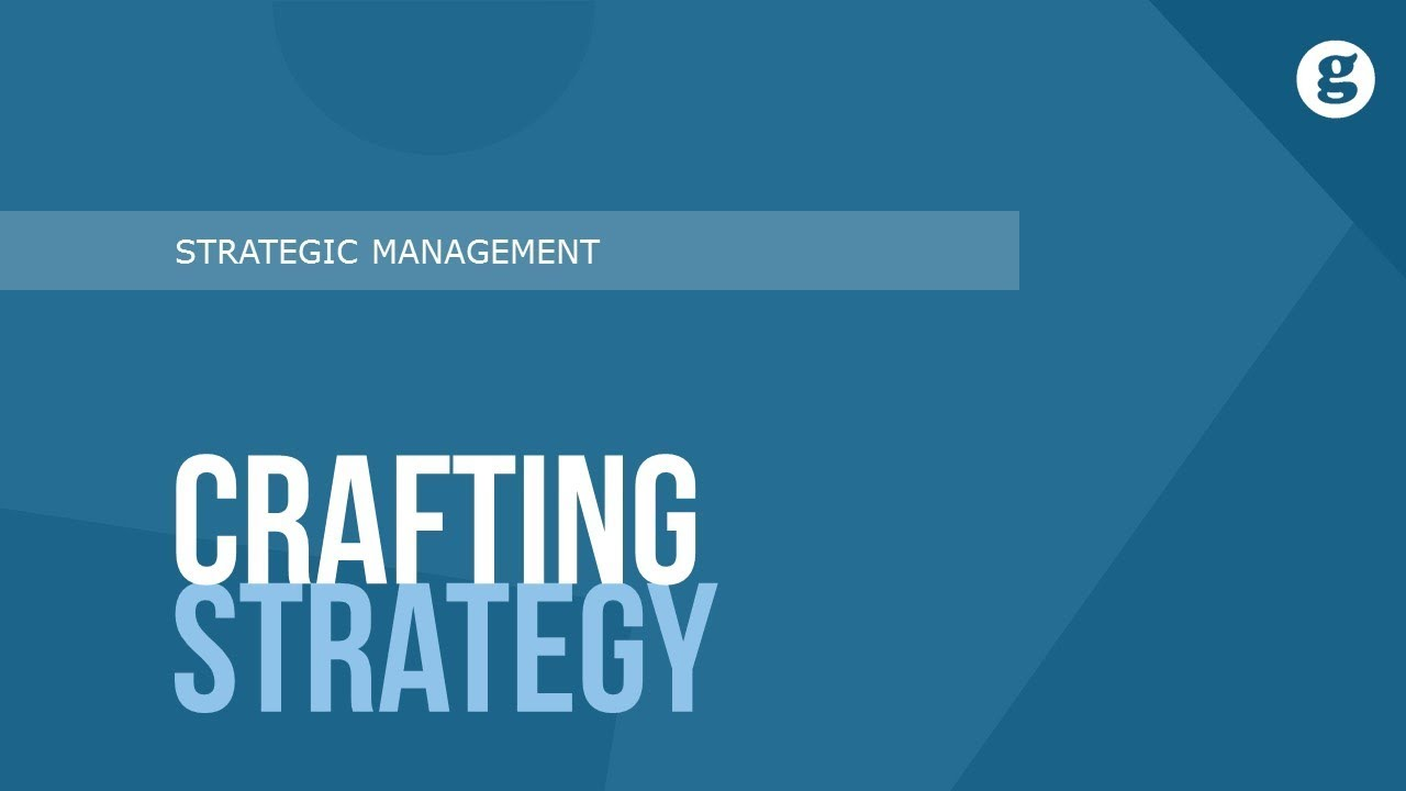 crafting strategy mintzberg