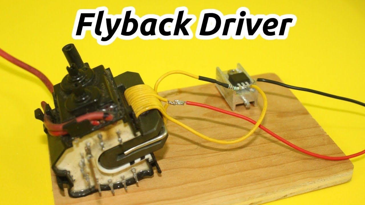 Flyback Driver With Only 2 Components Youtube