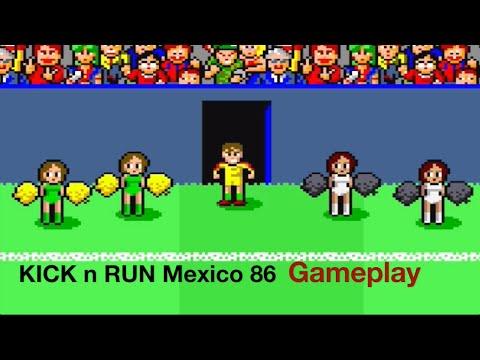 Kick N Run / Mexico 86 Arcade Gameplay - Buffon Mi Fai Un Baffo!