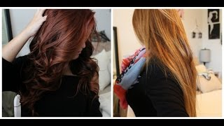From Red to Light Brown/Blonde WITHOUT bleach! Color Oops step-by-step|