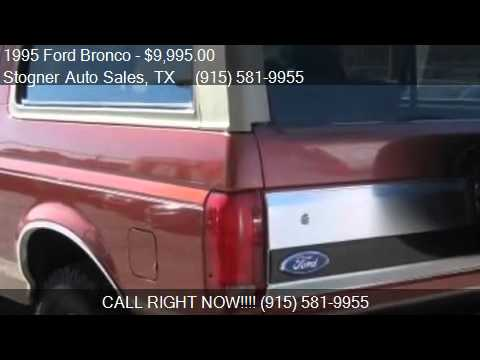 1995 ford bronco eddie bauer for sale in el paso, tx 79932 a - youtube