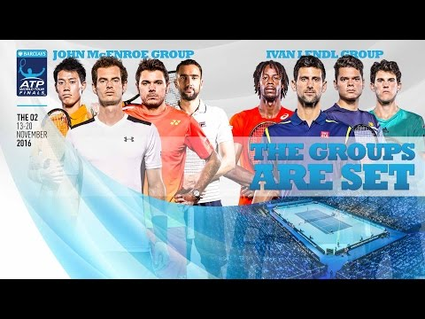 2016 Barclays ATP World Tour Finals Draw with Murray, Monfils, Wawrinka, Cilic & Thiem