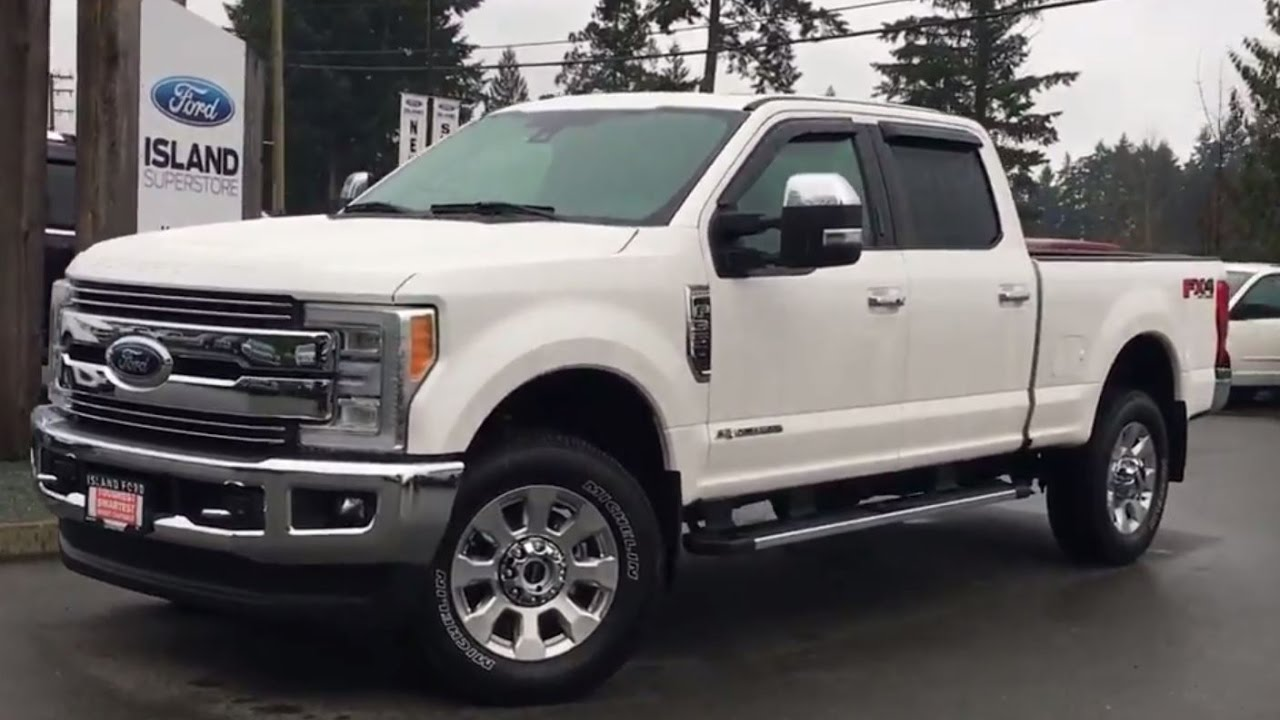 2017 ford f 350 lariat fx4 chrome ultimate crew cab v8 diesel power tailgate review island ford