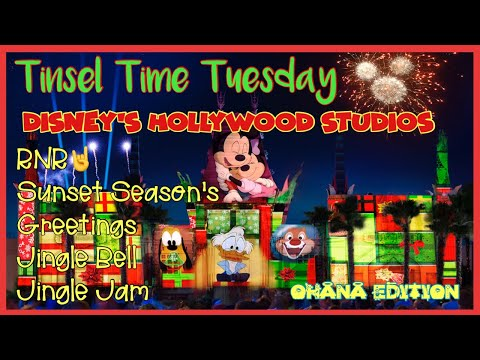 🔴LIVE. Tinsel Time Tuesday at Disney's Hollywood Studios|Sunset Season's Greetings|Jingle Bell en streaming