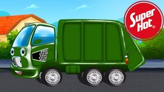 candy green garbage truck wash with nursery rhymes the grand old duke of york song for children