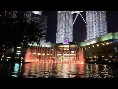 Musical Fountains at Twin tower Kuala lumpur Malaysia