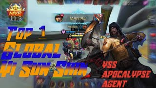 YSS Apocalypse Agent Top 1 global Yi Sun Shin Play by -Mobile legends