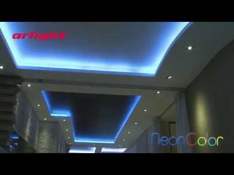 Световой дизайн интерьера квартиры в ЖК Город Яхт