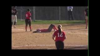 Softball player gets run over.