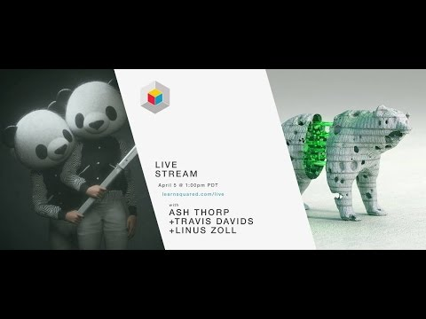 Travis Davids + Linus Zoll + Ash Thorp / Fusion 360 + Zbrush workflow / Learn Squared Live Stream