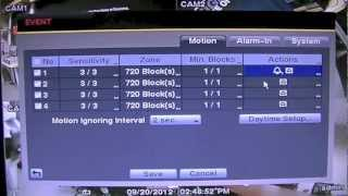 How To: Turn off the alarm beeping sound from the DVR