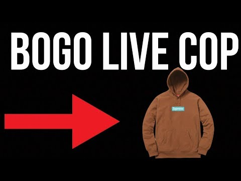SUPREME F/W 17' BOX LOGO MANUAL LIVE COP - W THROUGH THE LAG