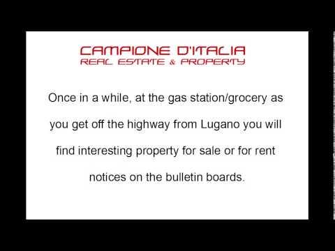 Finding Campione D'Italia Real Estate Deals
