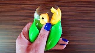 Jiggly Slime Cu Jucarii Anti-stress cu Apa si Slime Cumparat