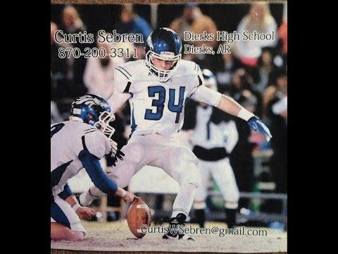 Curtis Sebren #34 Kicker Dierks High School 2013 Highlights