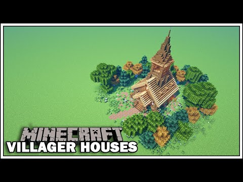 Minecraft Villager Houses - THE CLERIC (Small Church) - [Minecraft Tutorial]