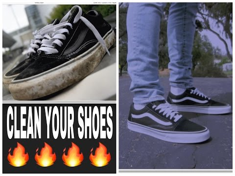 HOW TO CLEAN YOUR DIRTY VANS! (Van Sk8 Low/ Old Schools Full Restoration)