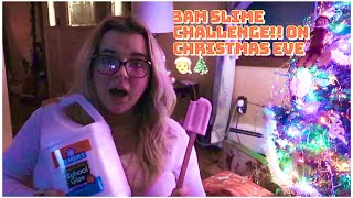 Making Slime At 3am On Christmas Eve!! Santa Clause, Elf On The Shelf!!