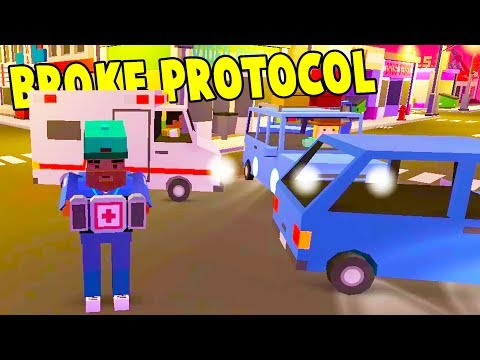 SAVING LIVES AS A PARAMEDIC IN THE PVP APOCALYPSE! Huge Update! - Broke Protocol Free GTA Gameplay