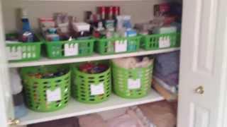 Dollar Tree Linen Closet Organization - Dollar Tree Organizing