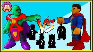 BLIND BAG BATTLE #10 Superman vs Martian Manhunter ! DC Ooshies Series 2 Lego Minifigures Series 17