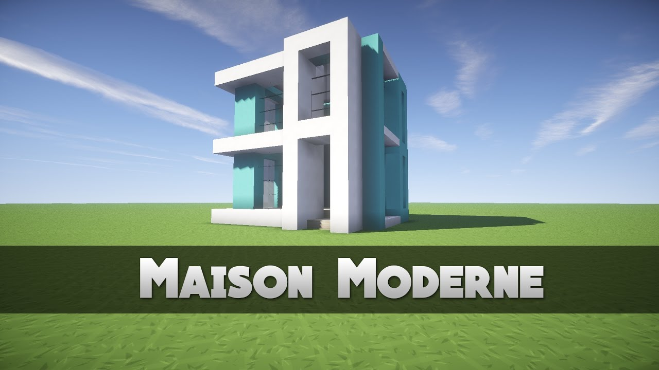 Tuto maison moderne minecraft youtube for Minecraft construction maison moderne