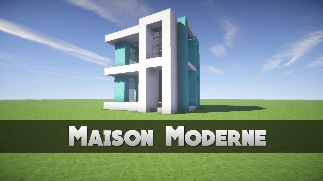 Tuto maison moderne minecraft youtube for Minecraft maison moderne