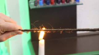 Treat split hair on their full length with a new candle flame hair cut