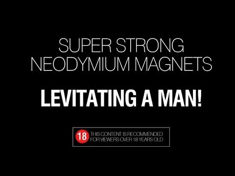 Magnetic levitation - Strong magnets levitating a man