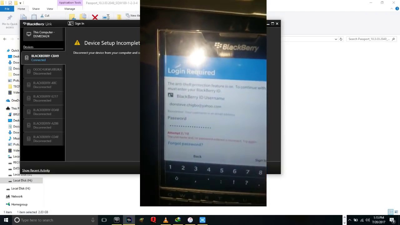 How to Remove Anti theft 10 3 3 on all blackberry Leap, q10,q20, q5, z10,  z3, z30, passport