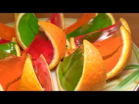 Десерт из желе РАДУЖНЫЙ АПЕЛЬСИН / Оригинальные рецепты на каждый день