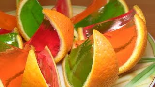 видео Желе из апельсинов  | Блюда по-домашнему с фото по шагам рецепта