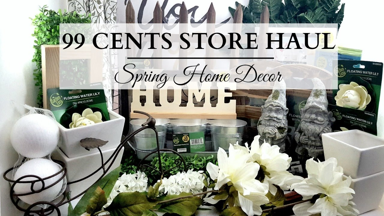 99 cents store haul earth tone spring home decor youtube for Store for home decor