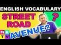 Street / Road / Avenue / Boulevard
