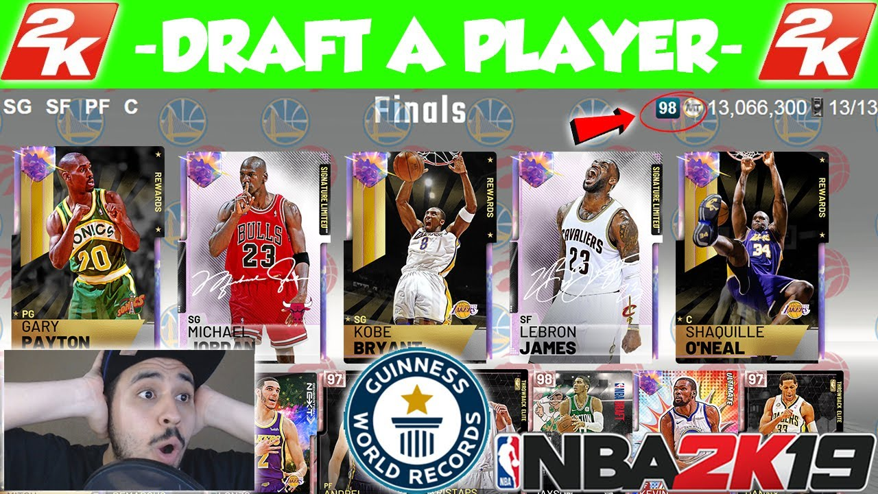 Nba 2k19 Draft The Highest Rated 98 Ovr Draft In Myteam Youtube
