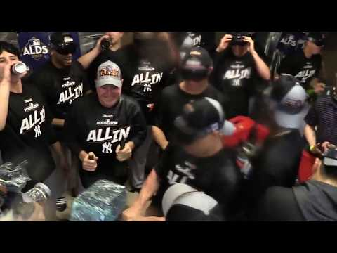 new-york-yankees-celebrate-on-the-field-and-locker-room-after-beating-the-indians-in-alds