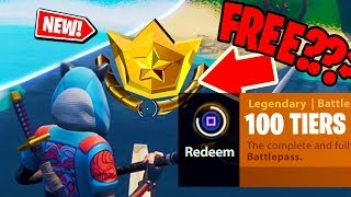 NEW! How to get the FULL SEASON 8 BATTLE PASS for FREE in Fortnite: Battle Royale *NEW* 100 TIERS