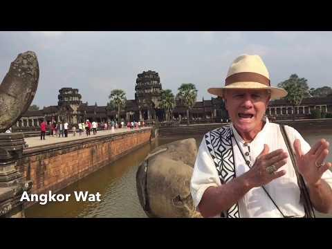 Beautiful girls at Exotic Cambodia  Angkor Wat  Temple
