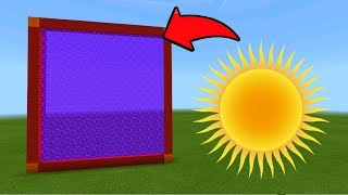 Minecraft Pe How To Make a Portal To The Sun Dimension - Mcpe Portal To Sun!!!