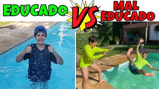 TIPOS DE ADOLESCENTES NA PISCINA| EDUCADO VS MAL EDUCADO | PEDRO MAIA