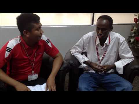 interview with foreign student by tuan muhamad hamid